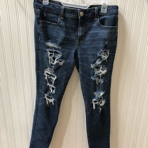 American eagle 360 super stretch pants size 12
